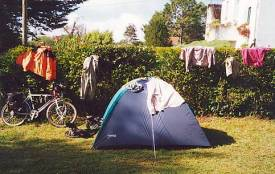 Camp site at Biarritz